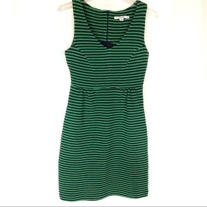 Boden green & blue striped sheath dress